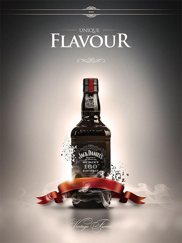 Jack Daniel's kind of poster by Karol Socha, via Behance