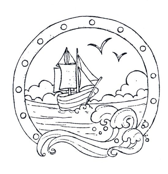 Nautical themed coloring pages coloring pages for Nautical coloring pages