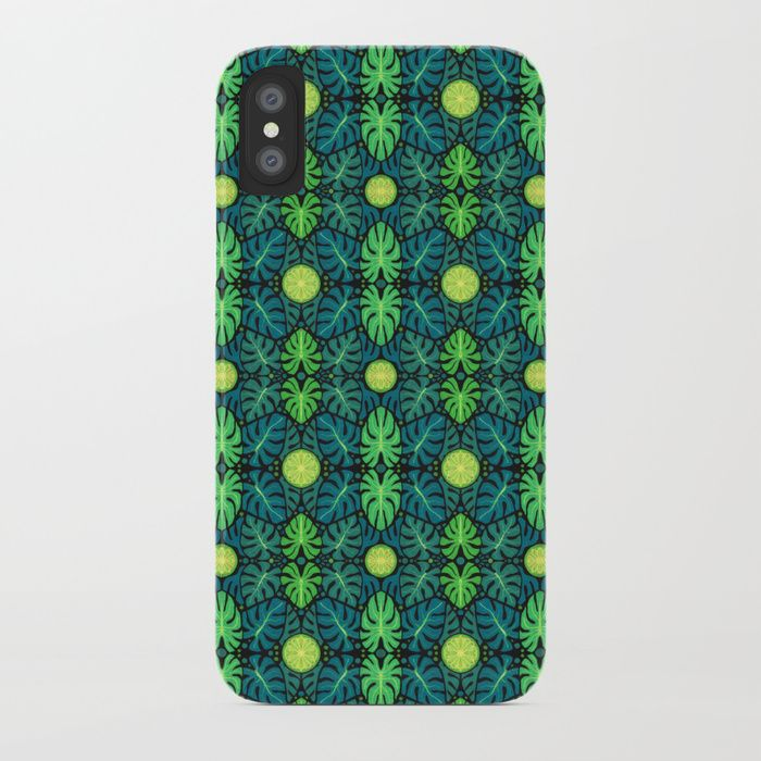 Buy Monstera leaves, floral pattern, black, green & turquoise iPhone Case by clipsocallipso. Worldwide shipping available at Society6.com. Just one of millions of high quality products available.