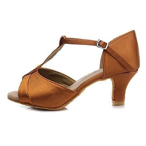 Oferta: 25.99€ Dto: -27%. Comprar Ofertas de HROYL Zapatos de baile/Zapatos latinos de el marrón satín mujeres ES5-259 EU 40 barato. ¡Mira las ofertas!
