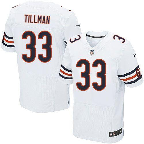 $129.99 Men's Nike Chicago Bears #33 Charles Tillman Elite White Jersey