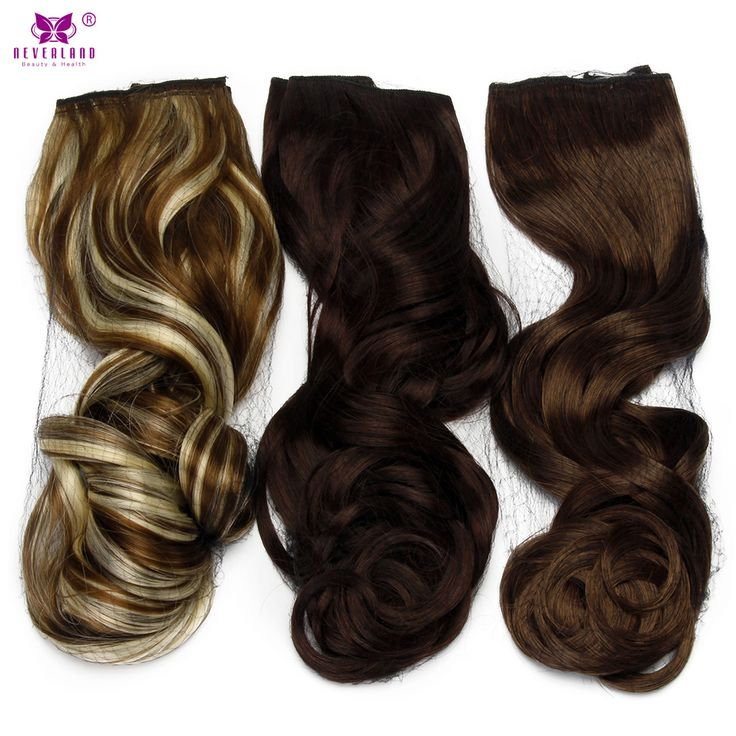 """Neverland 22"""" Curly Wavy Synthetic Clip In Natural Hair Extensions 5 Clips One Piece Long False Hairpiece for Women 6 Colors"""