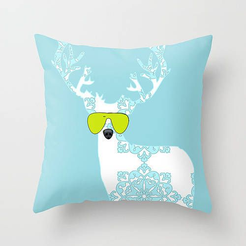 damask reindeer cushion cover by indira