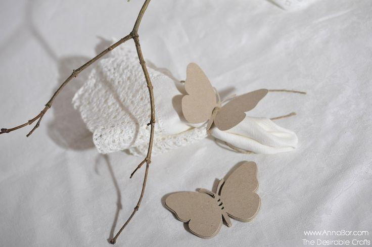 Rustikt bröllopsdekorationer, lantlig bröllop fjärilar till dekor.  Tillverkade av 100% återvunnet SVENSKT kvistpapper.
