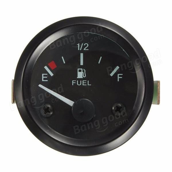 "Universal Car Fuel Level Gauge Meter With Fuel Sensor E-1/2-F Pointer 2\"" 52mm"