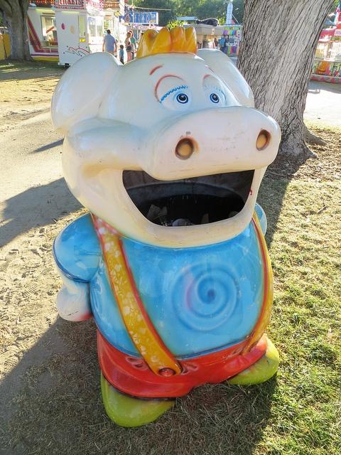 Alameda County Fair: Pig Trash Can by Blazenhoff, via Flickr