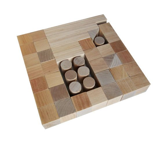 Handmade Wooden Building Blocks 60 details от AndrGreen на Etsy