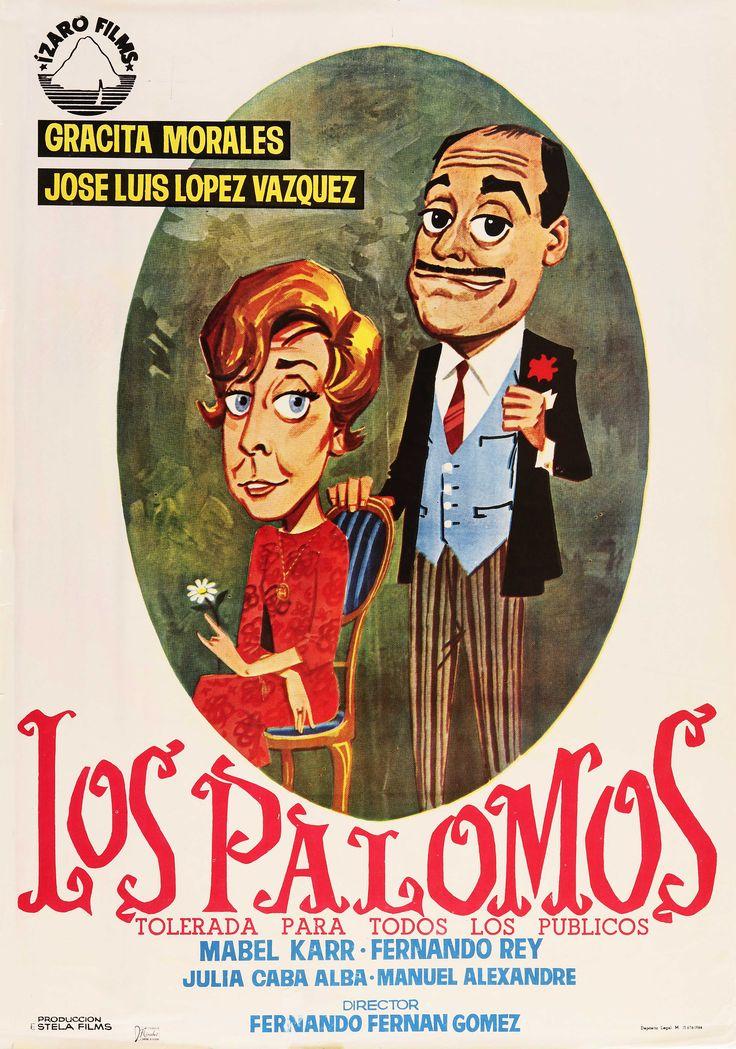 """""""Los palomos"""", Fernando Fernán Gómez, 1964. Con José Luis López Vázquez, Gracita Morales, Mabel Karr, Fernando Rey... http://estelafilms.com/pelicula.php?url=los-palomos"""