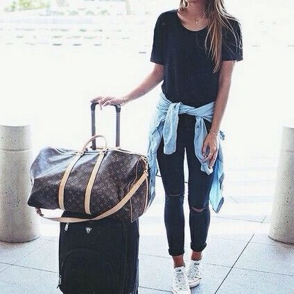 travel outfit #louisvuitton