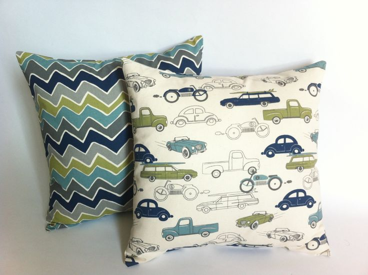 Little Boys Room Decor Set of 2 Decorative Throw by Pillomatic, $32.00