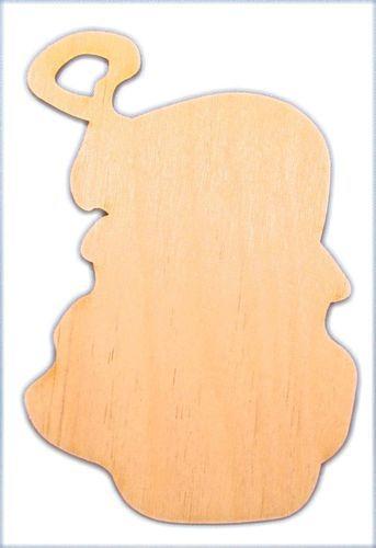 CMSanta Santa Face Wood Ornament / Package of 10
