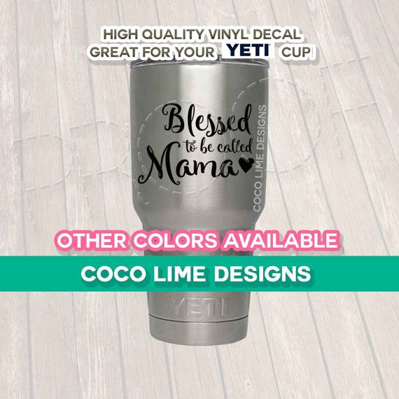 Use this decal on your favorite Yeti Cup, Mac Book, Cellphone case, options are endless!     This is listing is for ONE Decal ONLY.     This Listing does NOT include a Yeti Cup.     Please choose the size and color you would prefer for the decal from the drop down menu.     (( Recommended decal size for Yeti Cups is 3.5 inches tall and 6 inches wide ))    Sticker in the picture on the actual yeti cup is 3.5 inches   ** The variations in size is the height (tall) the decal will be…
