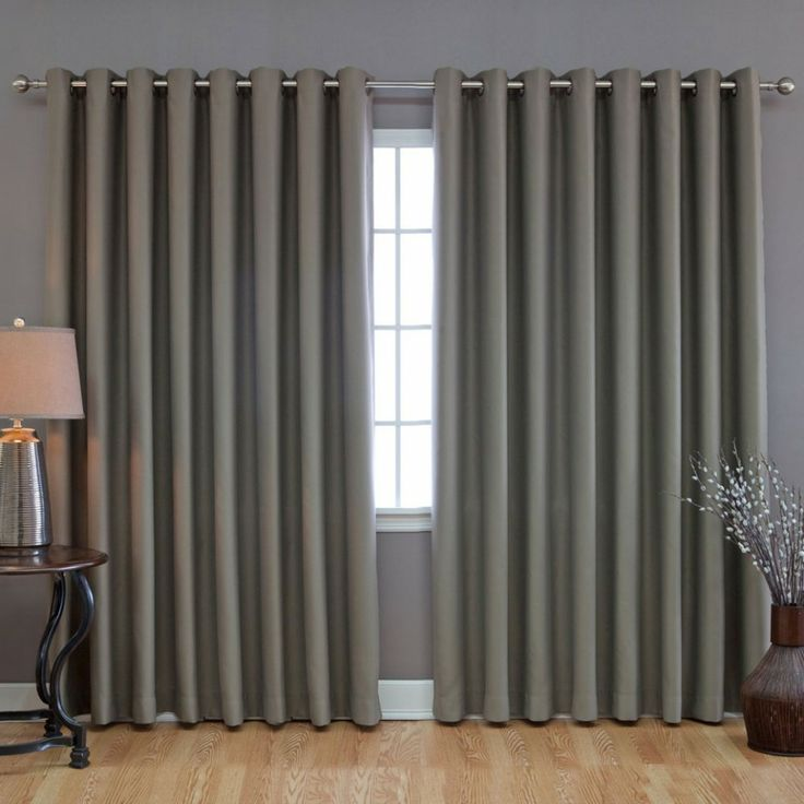 Home Improvement, Curtains for Sliding Doors: Beautiful Curtains for Sliding Glass Door: Grey Curtains For Sliding Doors
