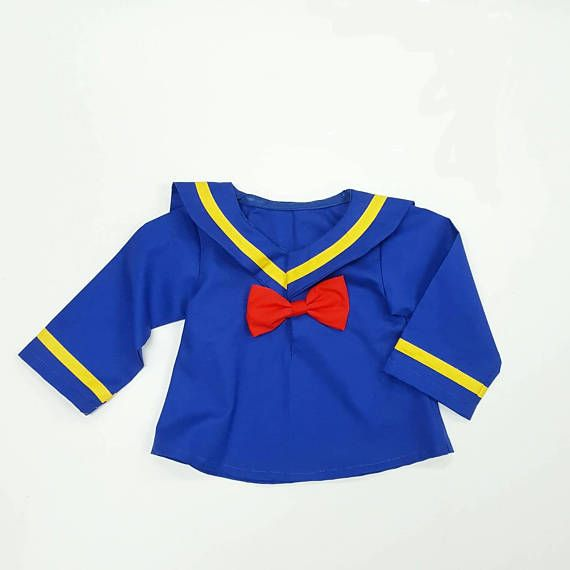 Donald Duck Top  Donald Duck Costume  #Birthday #DonaldDuck #toddlercostume #disneycostume