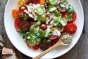 Tomato salad with tzatziki.