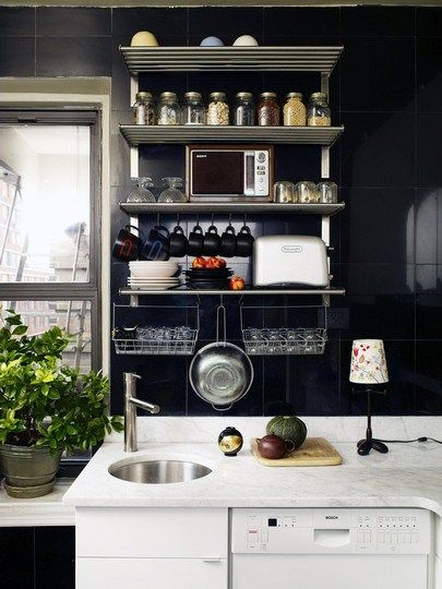 ikea shelving for small kitchen