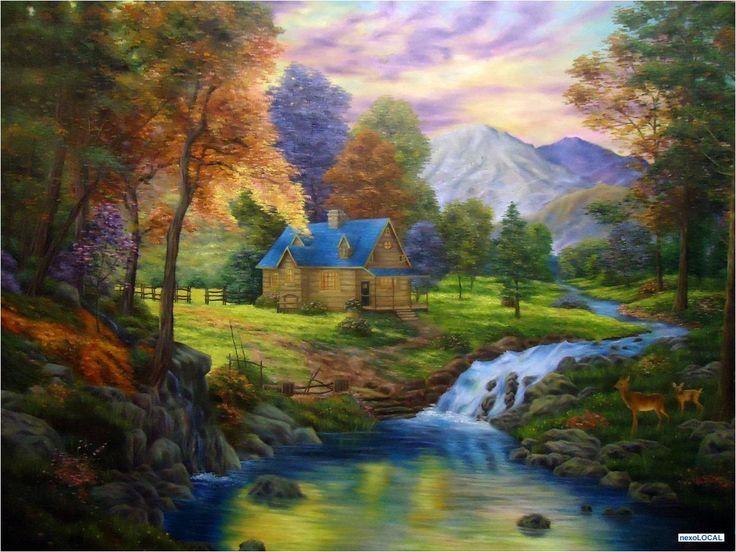 pintura paisaje realista - Buscar con Google