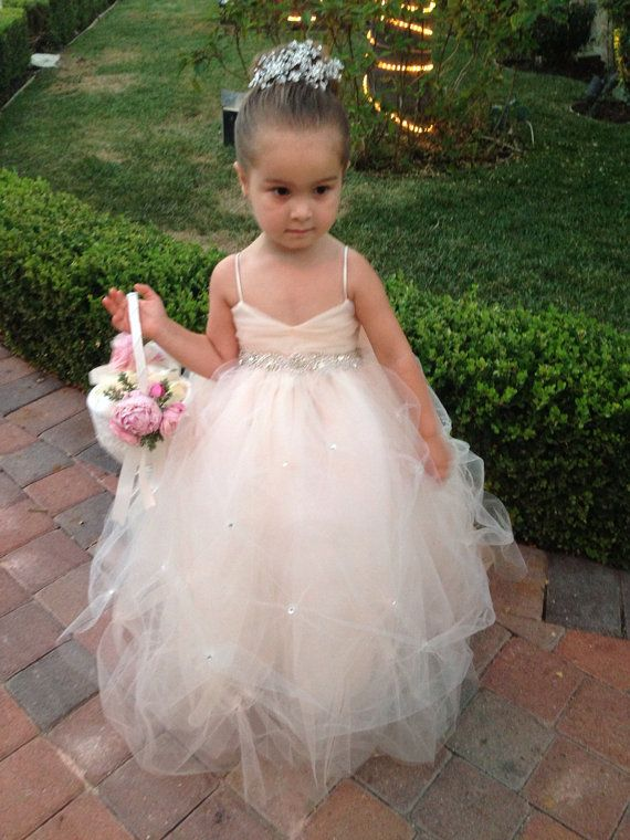 Flower girl dress lace dress girls lace dress big for Little flower girl wedding dresses