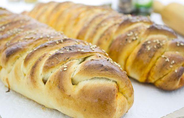 e-cocinablog: trenza rellena de jamón, beicon y queso