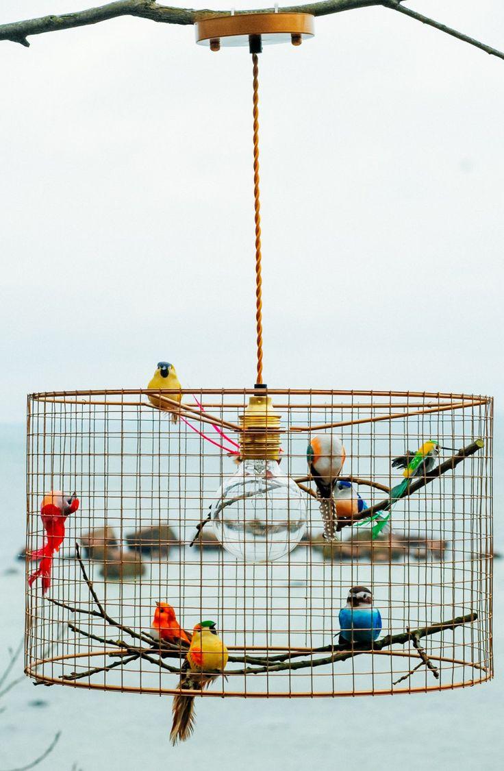 copper birdcage pendant lamp                                                                                                                                                     More