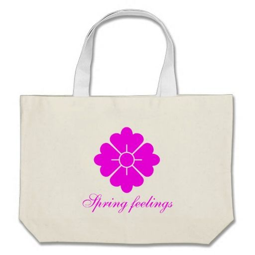 Flower shape design bags - magenta. Customizable, you can change/add the text, change the font (style), color, position etc.