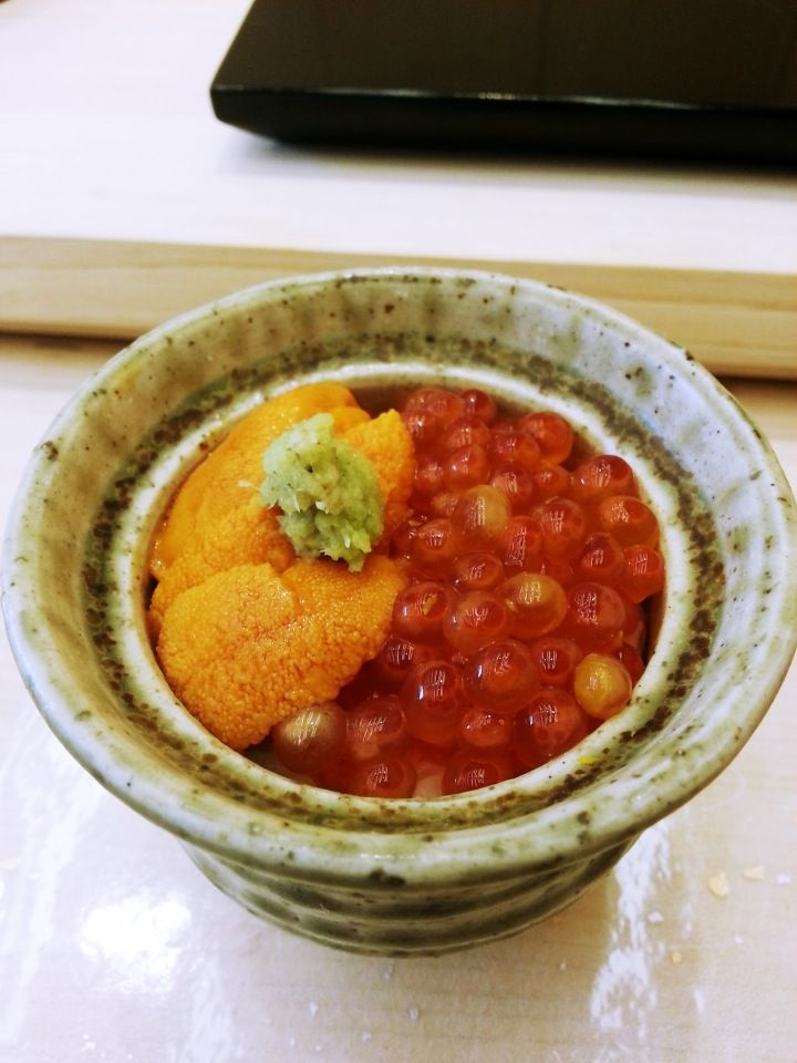 sea urchin & salmon roe