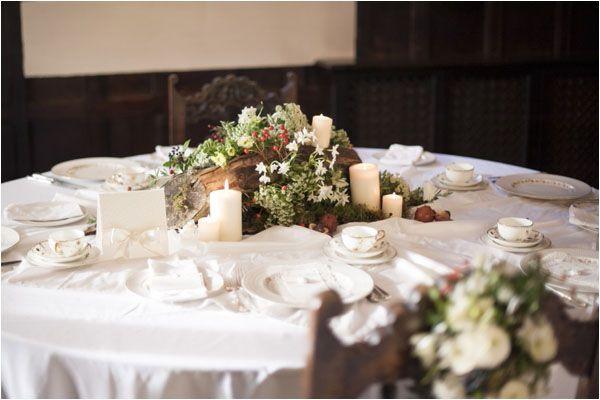 Classic Crockery A Winter's Tale - a warm winter wedding ideas shoot from Hampden House in Buckinghamshire