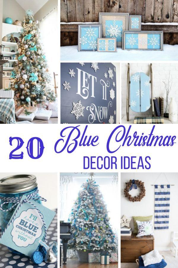 20 Gorgeous Blue Christmas Decor Ideas Christmas Decor and DIY