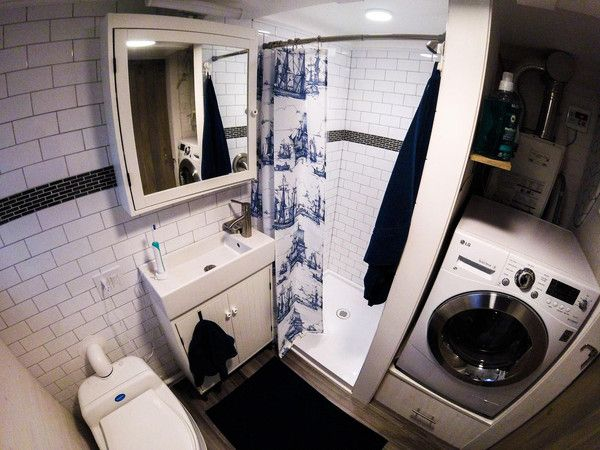 Best Tiny House Bathroom Images On Pinterest Tiny House - Small trailer with bathroom for bathroom decor ideas