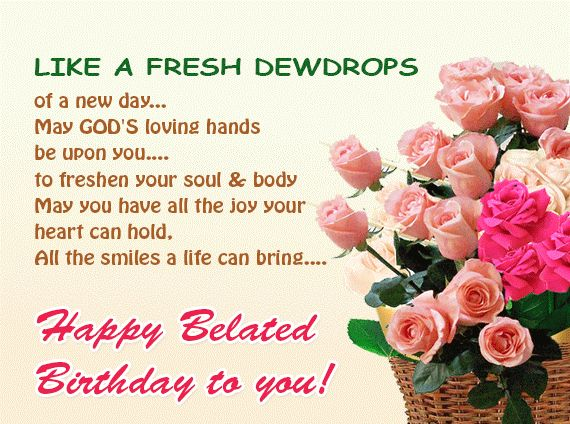 72 best happy belated birthday images on pinterest birthdays happy belated birthday like a fresh dewdrops m4hsunfo