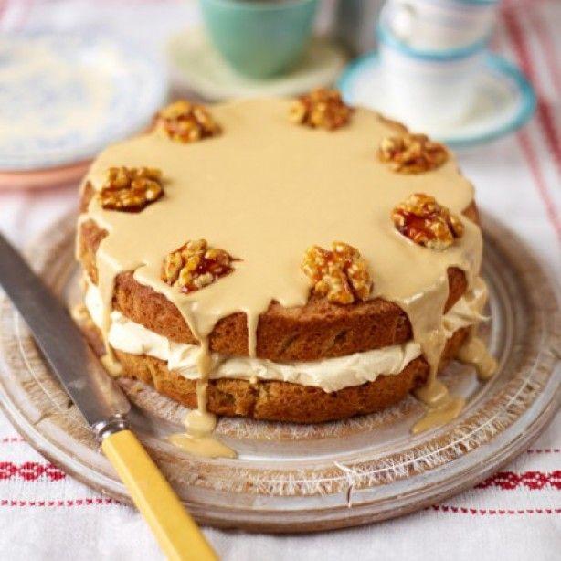 koffie walnoten taart...... ....Heerlijke koffie taart met walnoten.......ga naar de bron voor het recept......