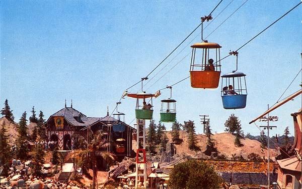 Fantasyland Skyway at Disneyland opened on June 23, 1956. During the Fantasyland renovation at Disneyland in the mid-1980s, the Skyway made only roundtrips from Tomorrowland.  The Disneyland Skyway was removed on November 9, 1994 due to stress cracks in the Matterhorn roller battery supports. At Disneyland, the Fantasyland Skyway station remains but is off limits to guests.    In 1998, Tokyo Disneyland closed their Skyway. The Fantasyland station was removed to make room for Pooh's Hunny…