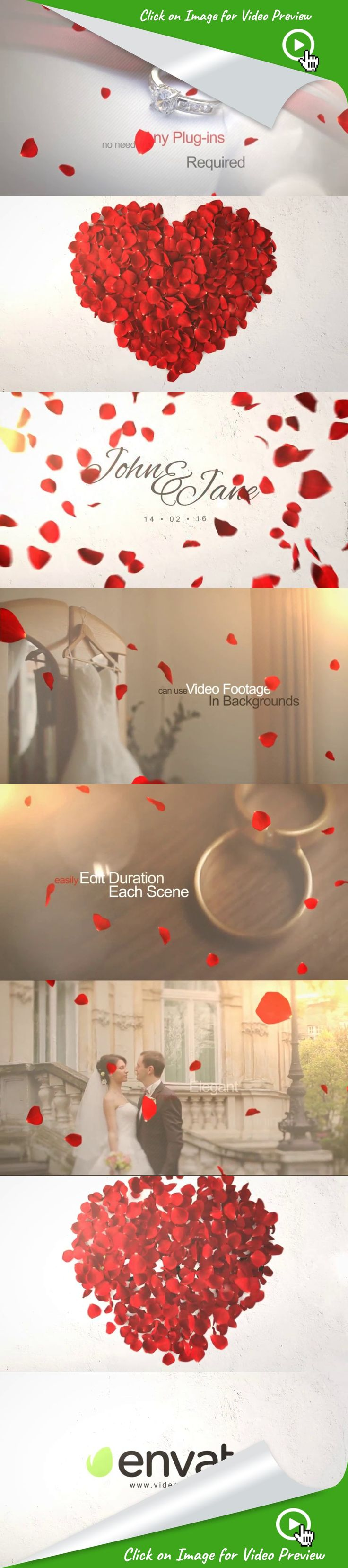 falling rose, family, flowers, heart, intro, light, love, petals, romantic, rose, rose logo reveal, simple, valentine, wedding, wedding intro, after effects templates, after effects ideas, after effects motion graphics, after effects projects, videohive projects Wedding Opener   After Effects CS4, CS5, CS5.5, CS6, CC  No plug-in required  Video tutorial included  Easy for use  Can edit duration of each scene  Can duplicate remove or rearrange scene   Music used in preview :> HERE   Photo...