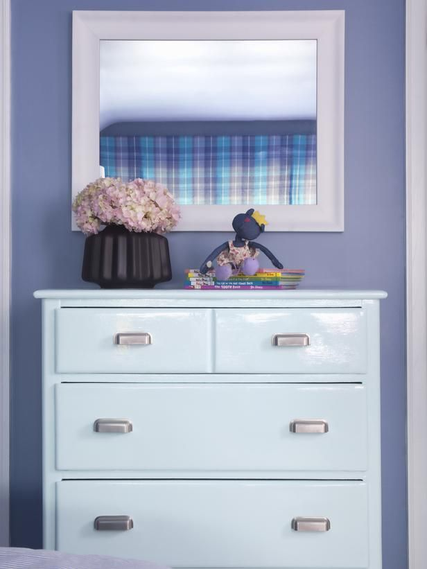refurbished dresser in white lacquer finish + new hardware