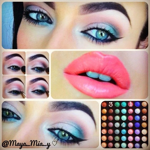 Today's #pictorial Using Coastal Scents 252 ultimate palette.