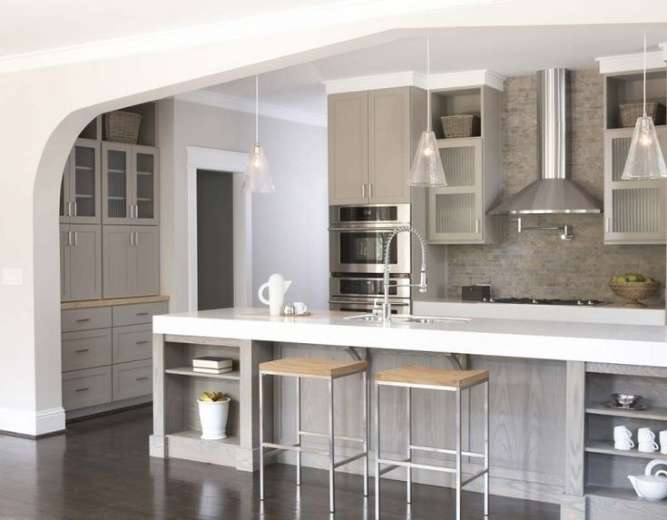 Beautiful Kitchen Arch Opens To A Living Space, Only On A Much, Much Smaller Scale