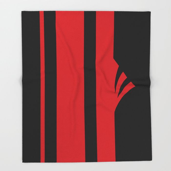 $49.99 Made of 100% polyester and sherpa fleece, these might be the softest blankets on the planet. #blanket #home #decor #stripes #red #black #elegant #modern #sensual #pattern #geometric #asymmetric #buyart #society6 #gift #giftideas