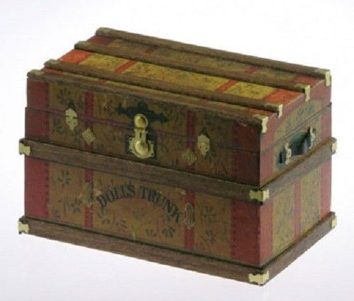 Cats PAW Vintage Style Lithographed Miniature Dolls Trunk KIT Wood Dollhouse   eBay