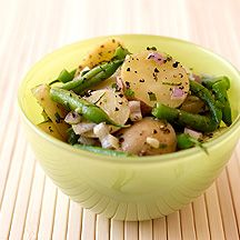 Fingerling Potato and Green Bean Salad with Fresh Herb Dressing More