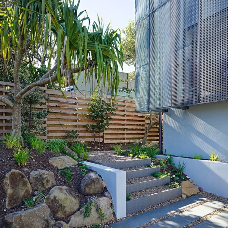 Granite Sleeper Steps at Piper House Sunshine Coast Australia www.conlongroup.com.au