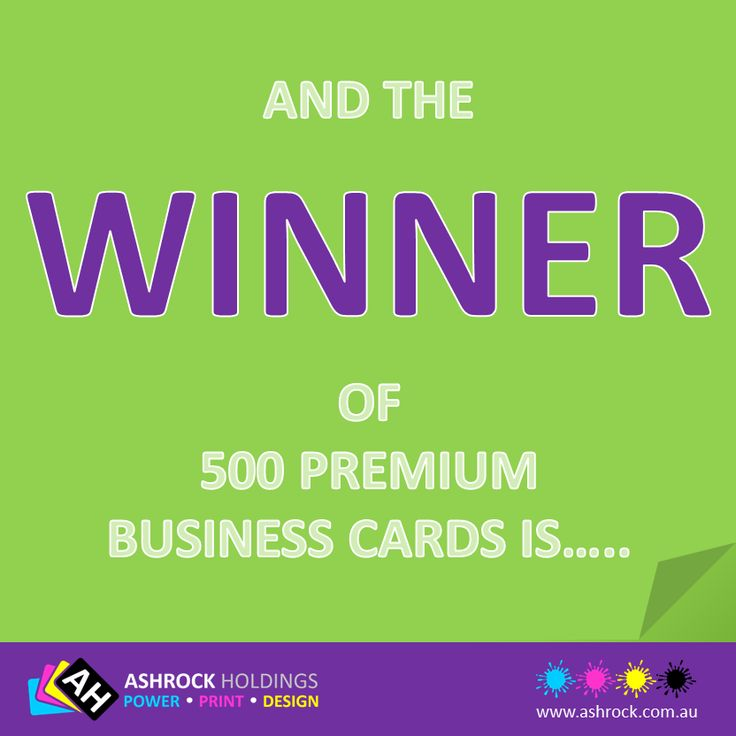 CONGRATULATIONS!!!! to Ben Dean of Muddy Creek Fishing & Outdoors. You are the lucky WINNER of our December competition and have won 500 Premium Double Sided Business Cards!   Thank you to all those who entered our Like, Share & Win Competition.   Don't forget to like our Facebook page or any of our other social media accounts to keep up-to-date with all our latest products, promotions & future competitions.  #winner #businesscards #prize #competition
