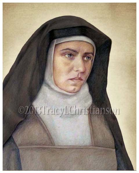 St. Edith Stein (Teresa Benedicta of the Cross) Art Print Catholic Patron Saint of Students, etc. #4078