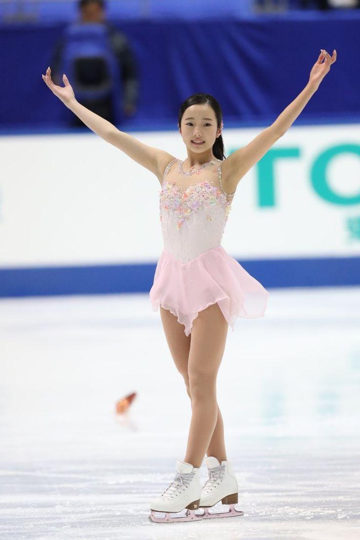 【#全日本フィギュア】女子SP #本田真凜(写真:坂本清) パーフェクトに滑りきり、フィニッシュ後は感極まったような表情を見せた。 #フィギュアスケート #figureskate
