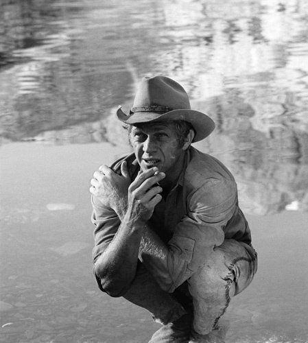 """NEVADA SMITH - Steve McQueen during the making of """"Nevada Smith"""""""