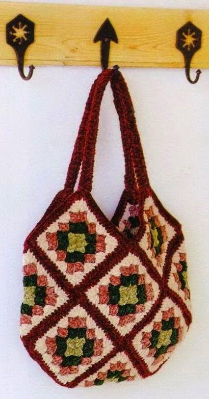 Horgolás minták: Színes táska