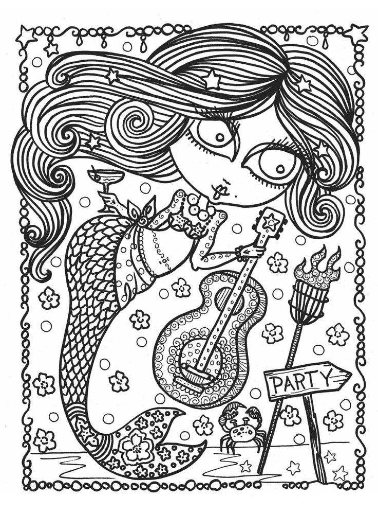8 best mermaid wonders coloring book images on pinterest ... - Mermaid Coloring Book