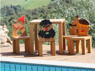 Sedia in legno massello per bambini PINOCCHIO - Legnomagia