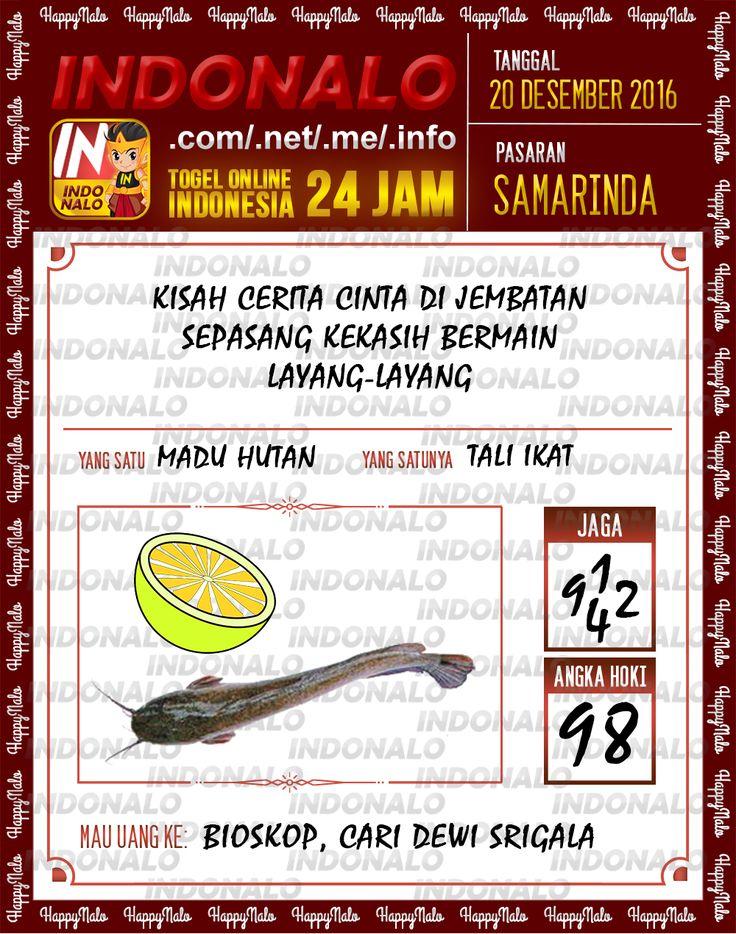 Undian Lotre 4D Togel Wap Online Live Draw 4D Indonalo Samarinda 20 Desember 2016