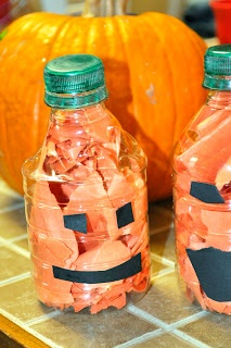 Water Bottle Pumpkin Jack-O-Lantern then you could use them as pins for bowling!