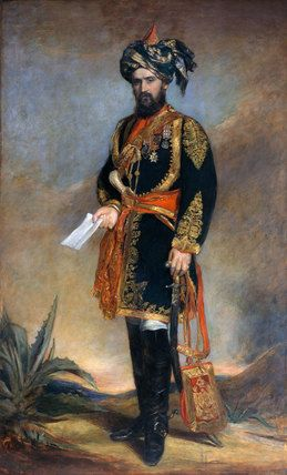 Colonel Probyn VC, 1867 Colonel (later General Sir) Dighton MacNaghten Probyn VC (1833-1924) is shown in the uniform of 11th Bengal Lancers.